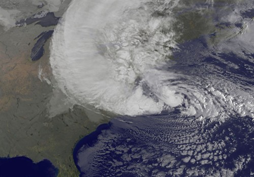 Hurricane Sandy NASA GOES