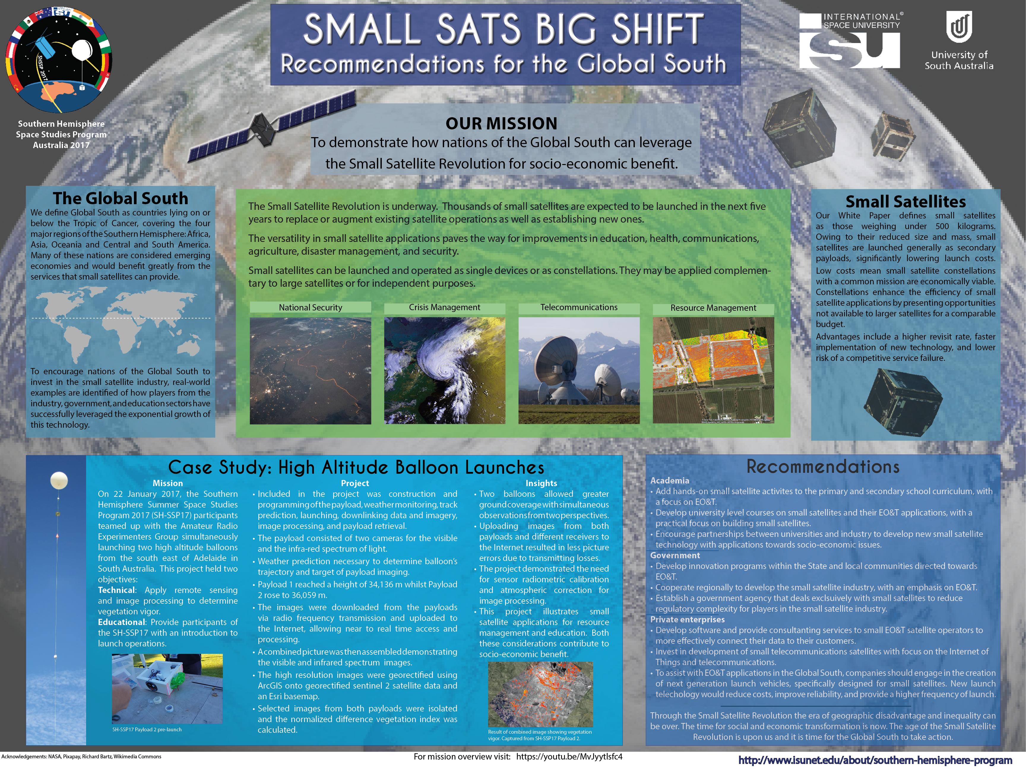SWF Participates at ISU Southern Hemisphere Space Studies
